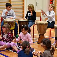 corsi di Percussioni Africane per bambini con Luca Zugna