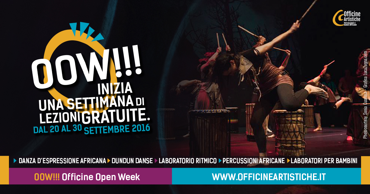 OOW! corsi di danza e percussioni africane