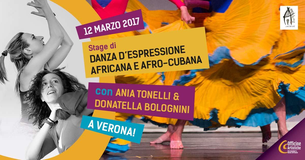 Danza d'espressione africana ed afro-cubana con Ania Tonelli e Donatella Bolognini a Verona