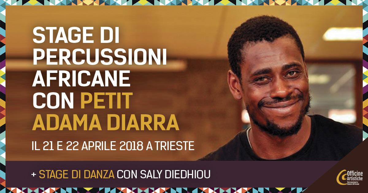Stage di percussioni africane con Petit Adama Diarra