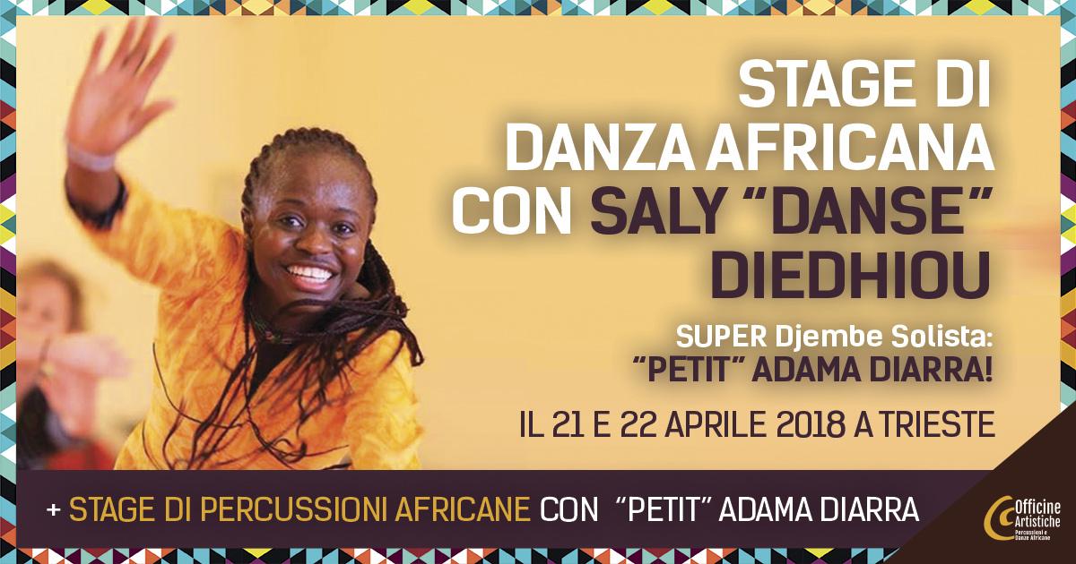 "STAGE DI DANZA AFRICANA CON SALY ""DANSE"" DIEDHIOU"