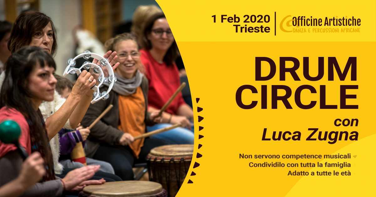 Drum Circle con Luca Zugna. Febbraio 2020