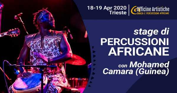 stage di percussioni africane con Mohamed Camara (Guinea)